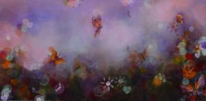 """Flowing With Life, Acrylic on Canvas 48""""x 24""""$3400"""